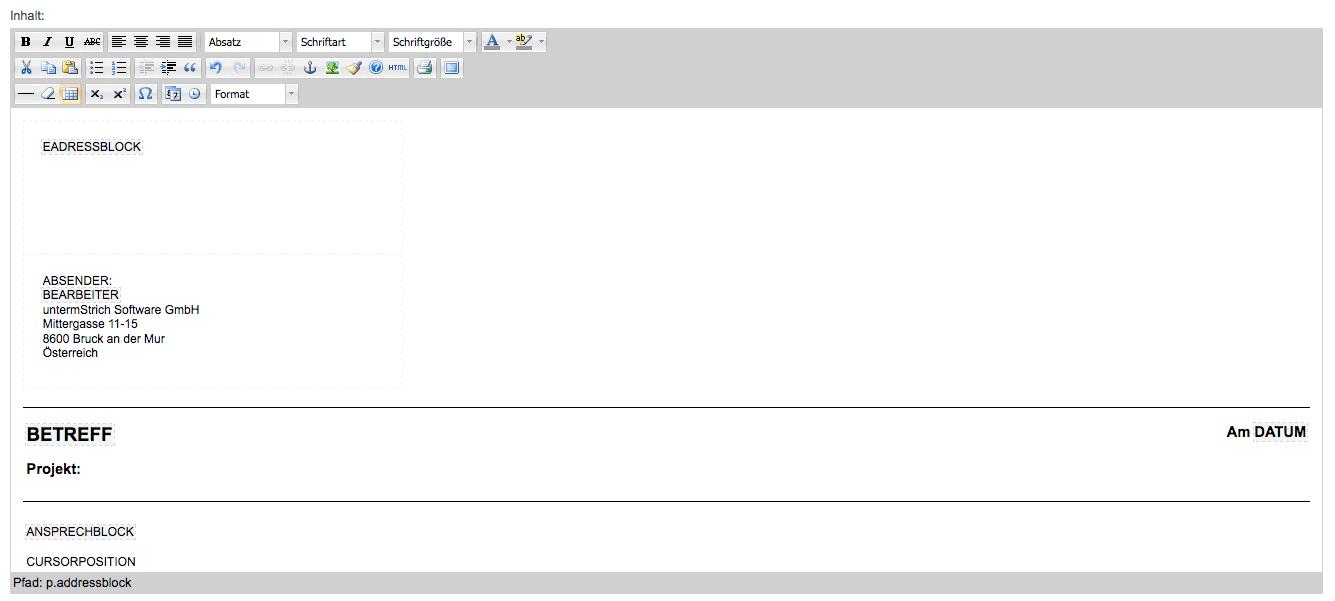 Informationen zu HTML · untermStrich